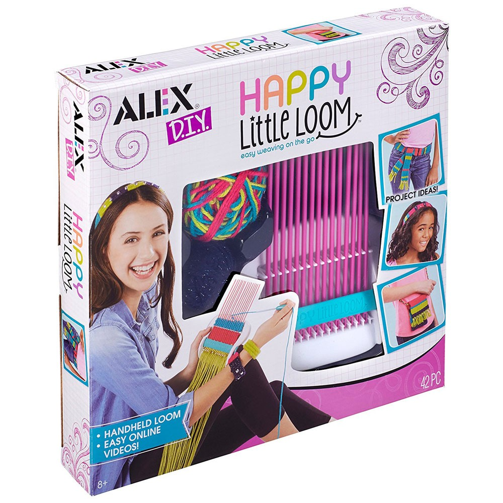 Happy little loom weaving craft kit educational toys planet for Alex toys craft color a house children s kit