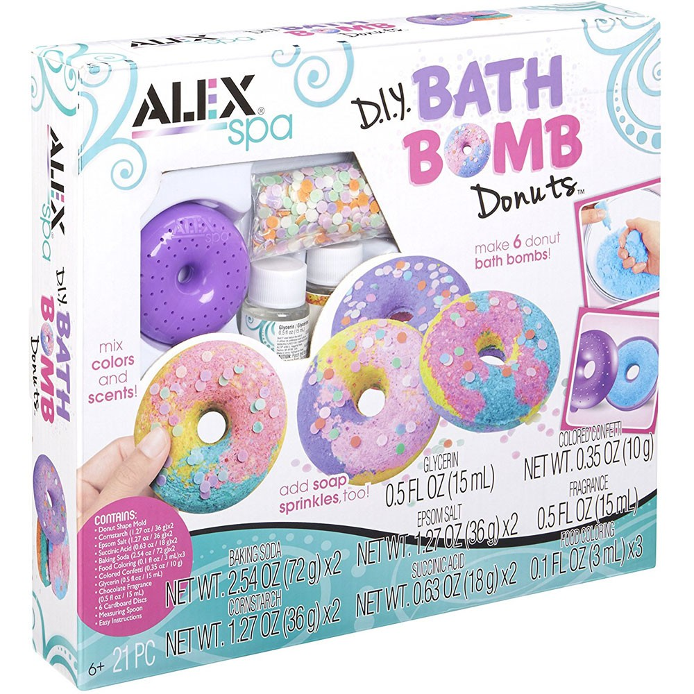 Diy Bath Bomb Donuts Girls Spa Craft Kit Educational