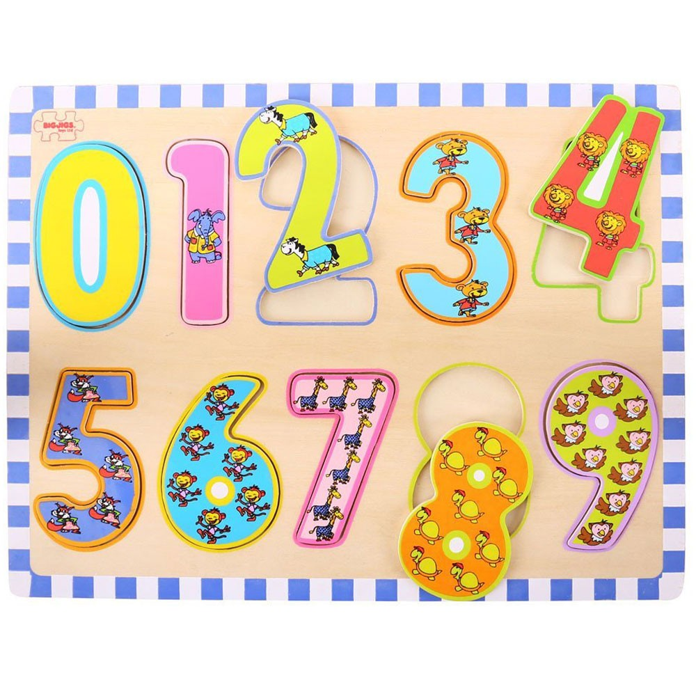 123 Numbers 10 pc Wooden Puzzle - Educational Toys Planet