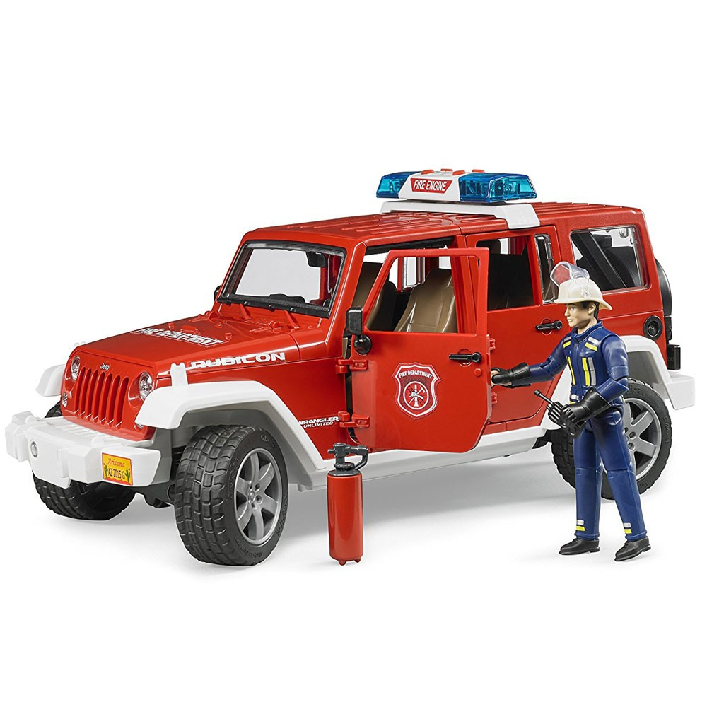 Jeep Wrangler For Sale Nj >> Bruder Jeep Rubicon Fire Rescue with Fireman Vehicle Set ...