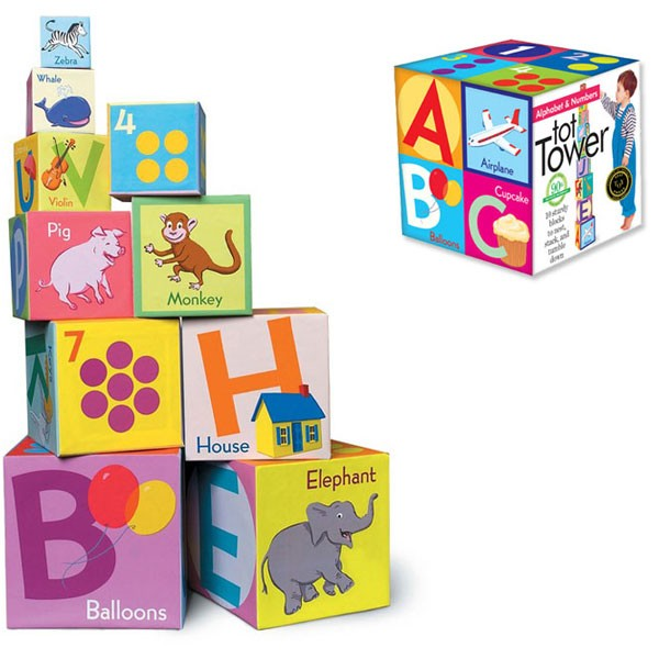 alphabet numbers tot towers 10 stacking blocks set. Black Bedroom Furniture Sets. Home Design Ideas