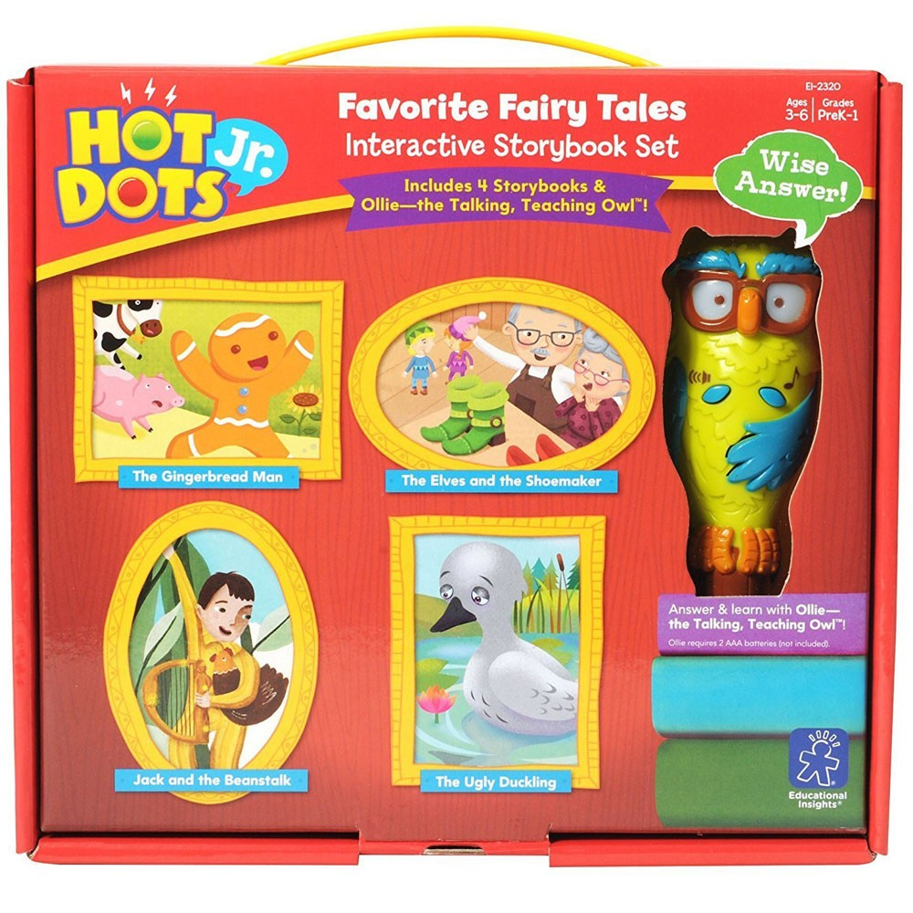 Hot Dots Jr Favorite Fairy Tales 4 Storybooks With Owl Pen Interactive Set