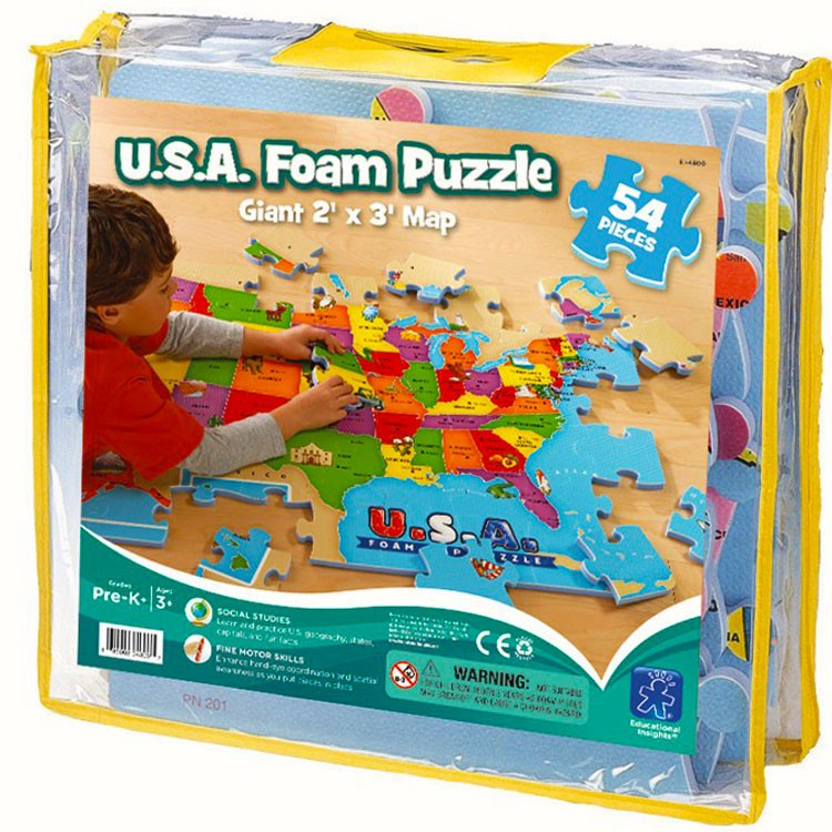 Usa Map Foam Puzzle Educational Toys Planet