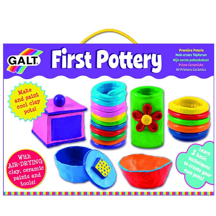 first pottery air dry clay craft kit educational toys planet