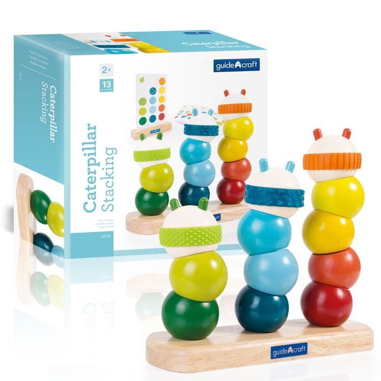Tactile Learning Toys : Caterpillar stacking sensory manipulative toy