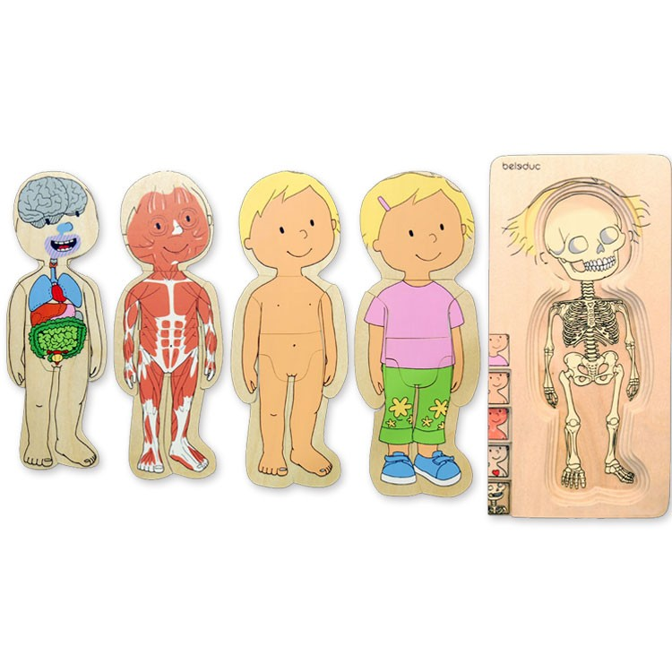 Girl Human Body Learning Puzzle - Educational Toys Planet