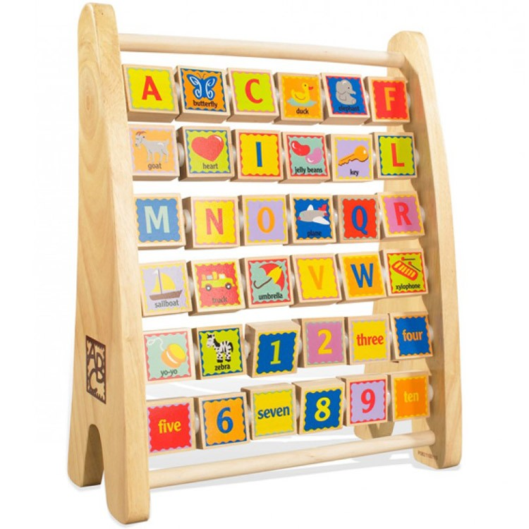 Alphabet Abacus Learning Toy - Educational Toys Planet