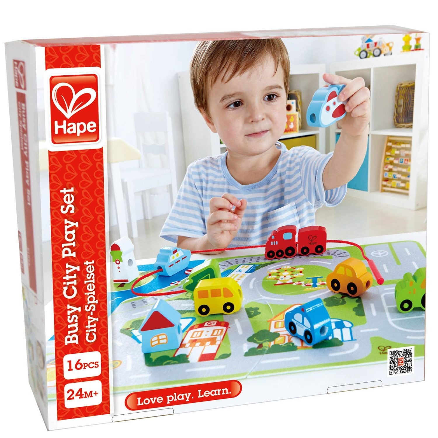 Busy City Lacing and Puzzle Set Educational Toys Planet