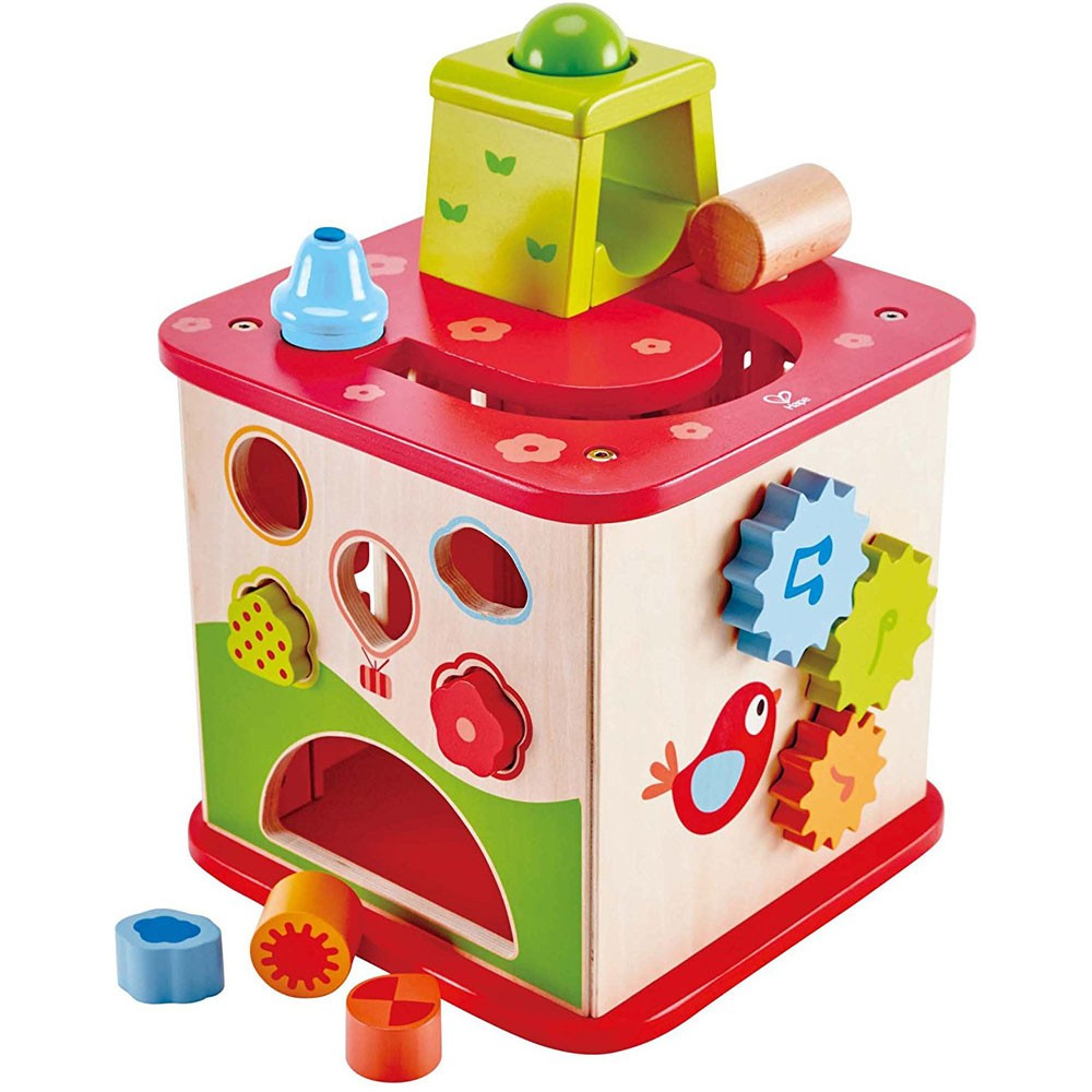 Activity Cube Toy : Pepe friends wooden activity cube sides play center