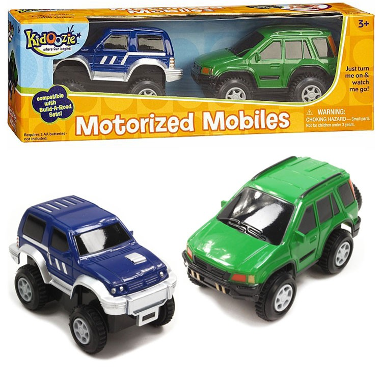 Motorized Mobiles - 2 Cars for Build a Road - Educational Toys Planet