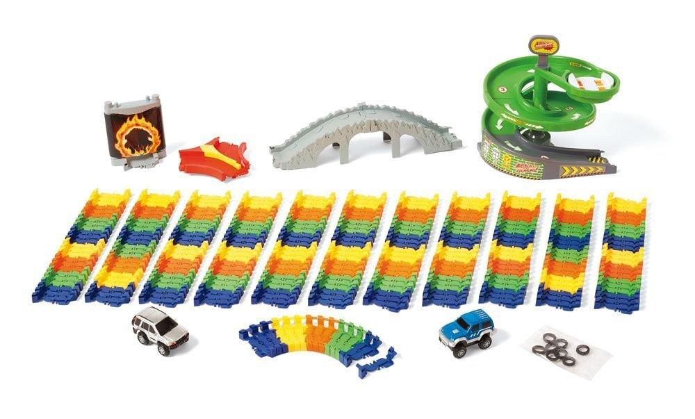 Deluxe Build A Road Super Spiral  Pc Construction Set