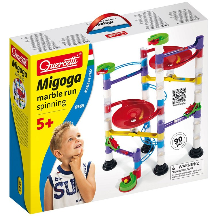 Building Toys From The 90s : Quercetti migoga marble run pc building set