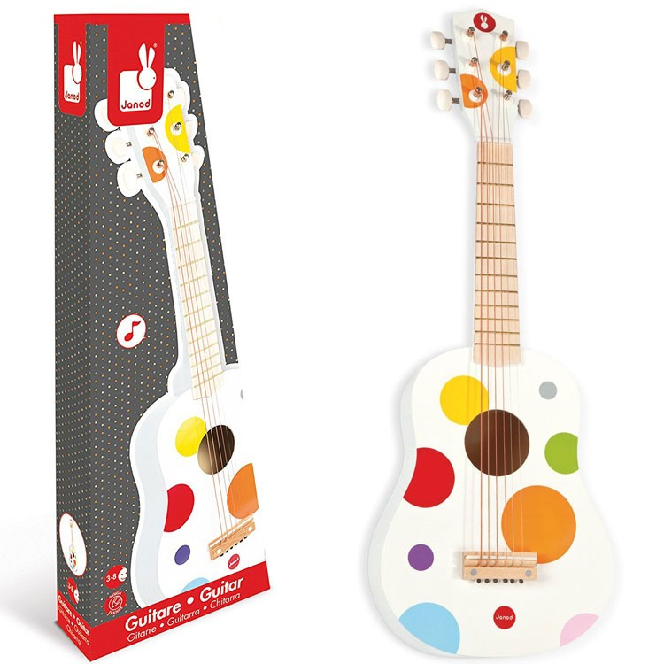 Musical Instruments Toys : Toy acoustic guitar confetti musical instrument