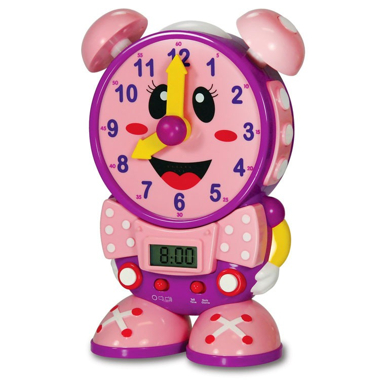Telly the Teaching Time Clock - Pink - Educational Toys Planet