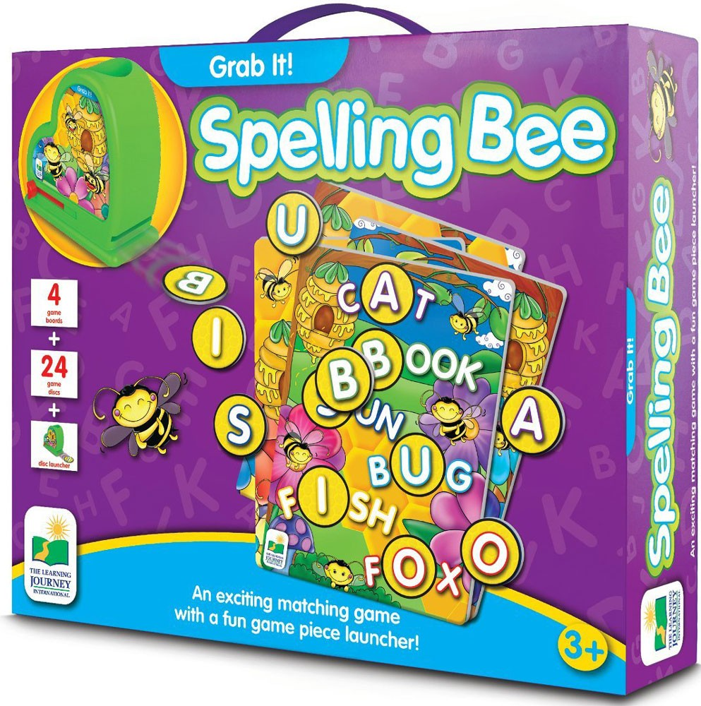 Toy Vocabulary Game : Spelling bee grab it interactive game educational toys