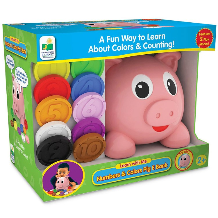 Electronic Learning Toys : Numbers colors pig e bank electronic learning toy