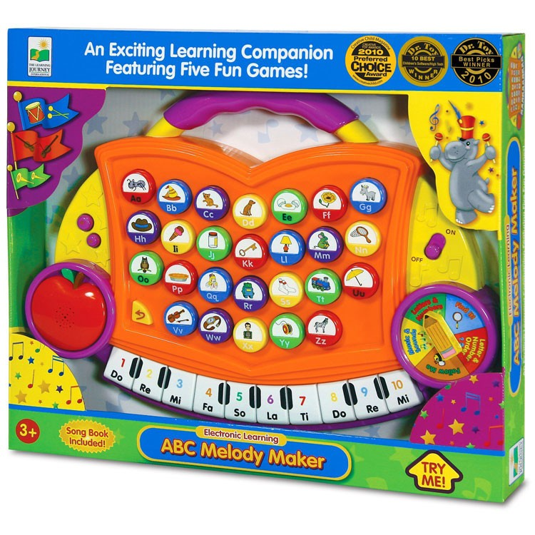Electronic Learning Toys : Abc melody maker electronic toy orange educational