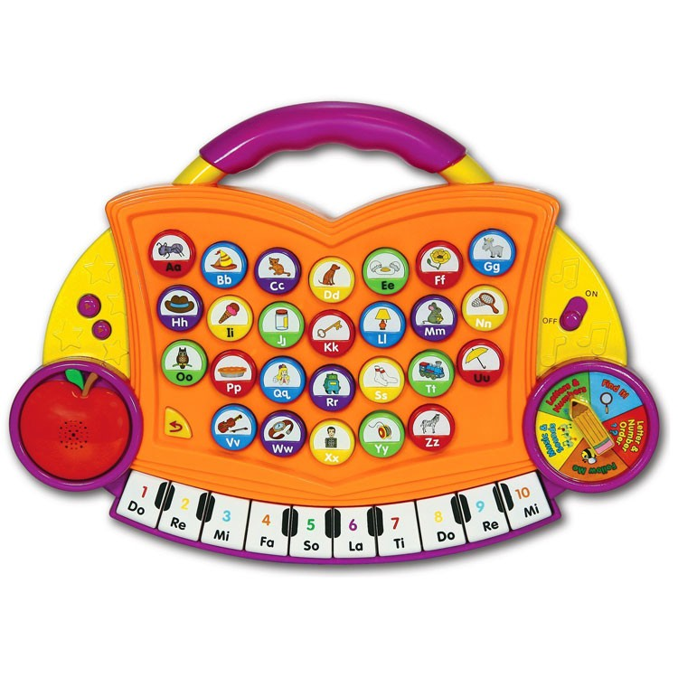 Abc Learning Toys : Abc melody maker electronic toy orange educational