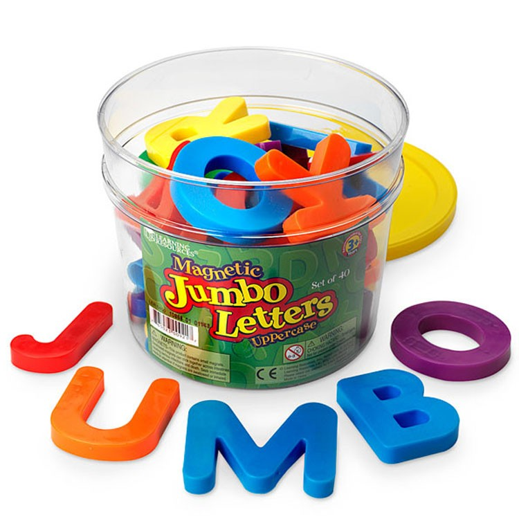Jumbo Magnetic Letters Uppercase Set Of 40 Educational