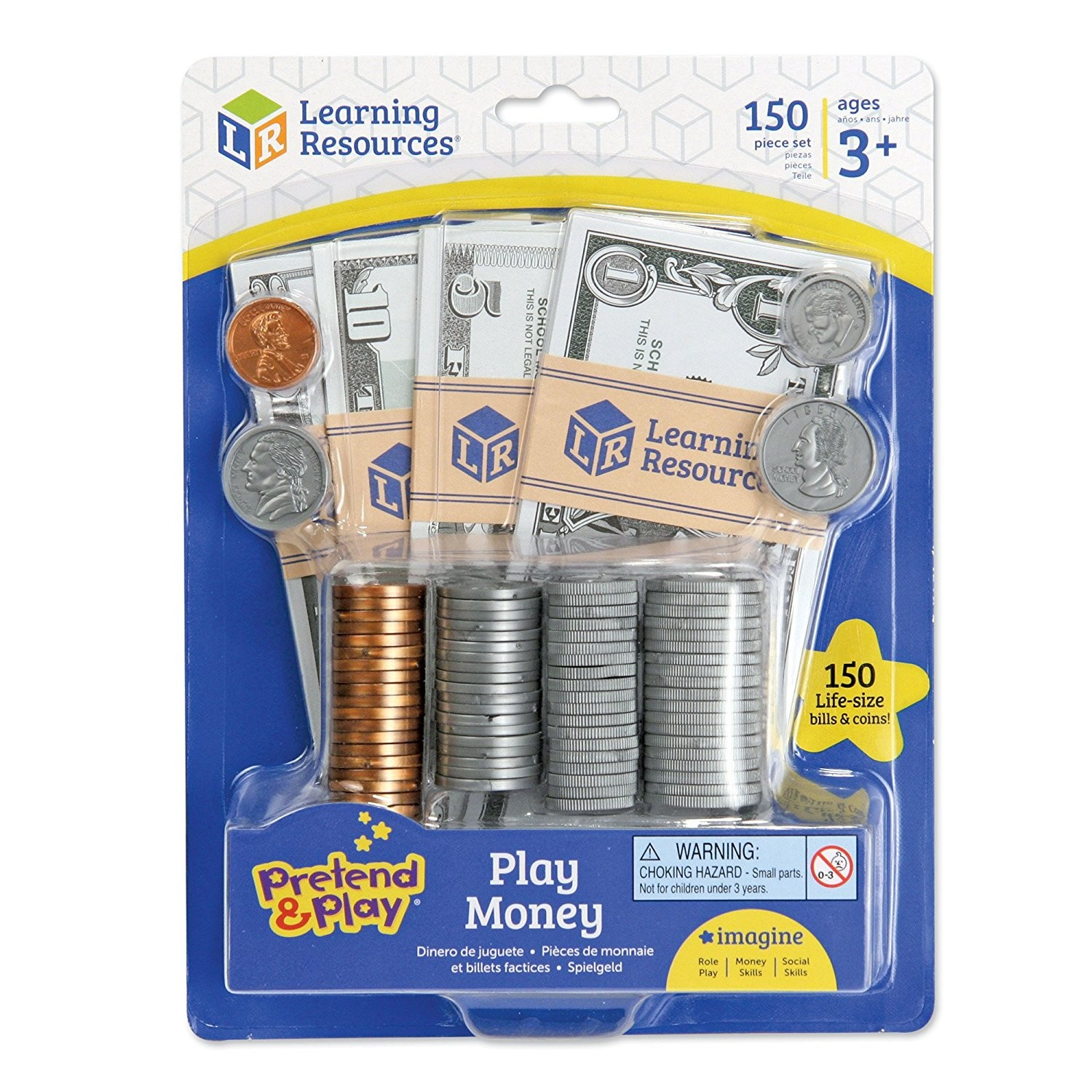 Play Money Toy : Play money pc actual size set educational toys