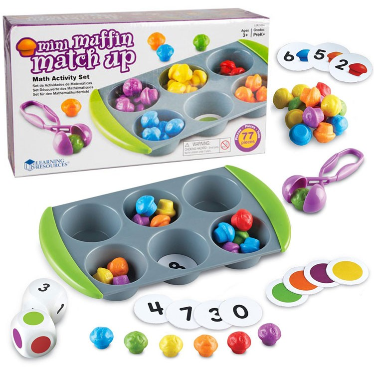 Mini Muffin Match up Math Learning Activity Set - Educational Toys ...
