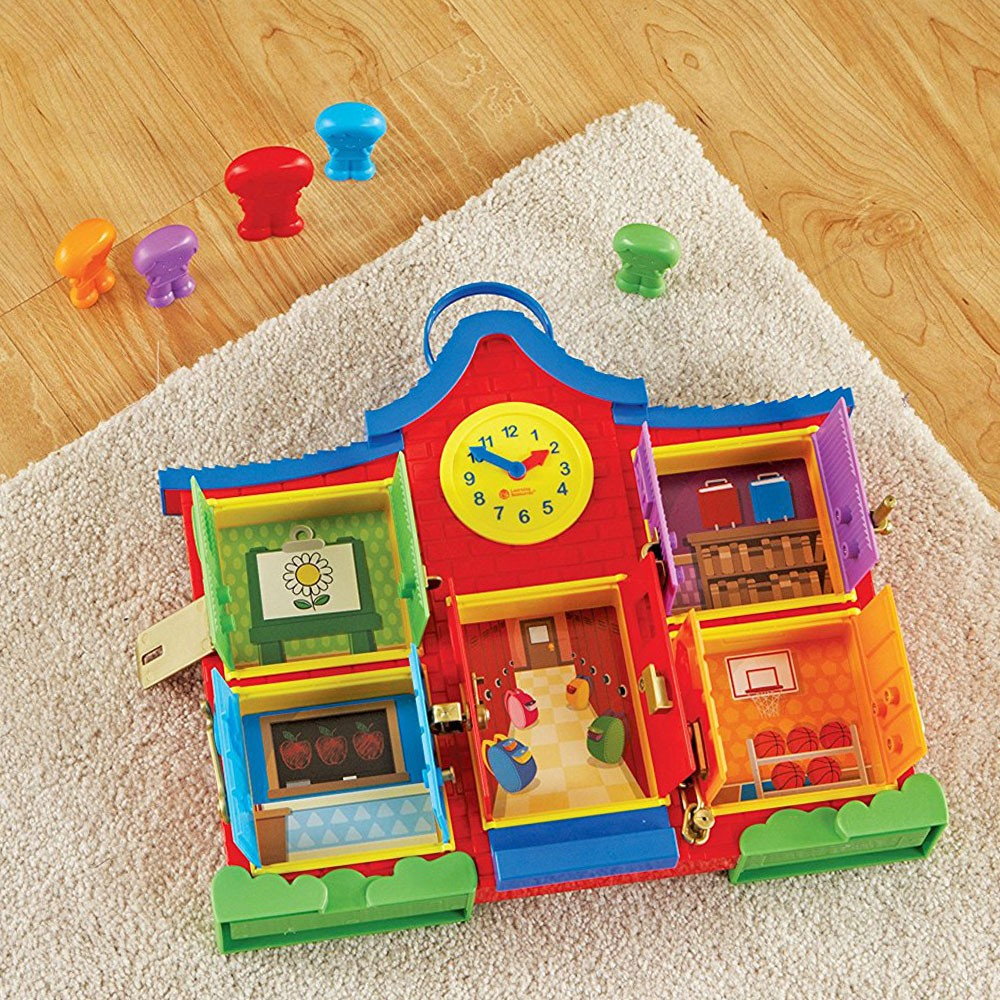 Manipulative Educational Toys : Latch learn school house manipulative activity toy