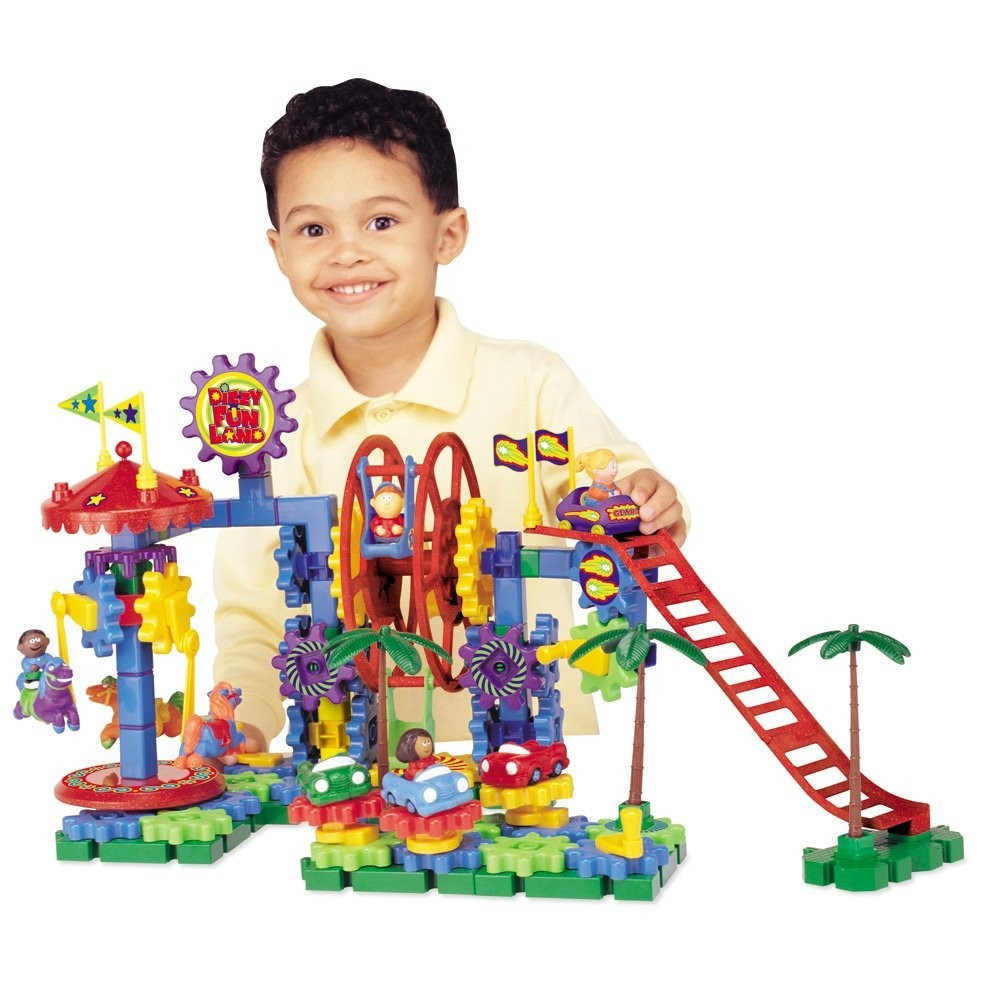 Cool Educational Toys : Dizzy fun land motorized gears building toy educational