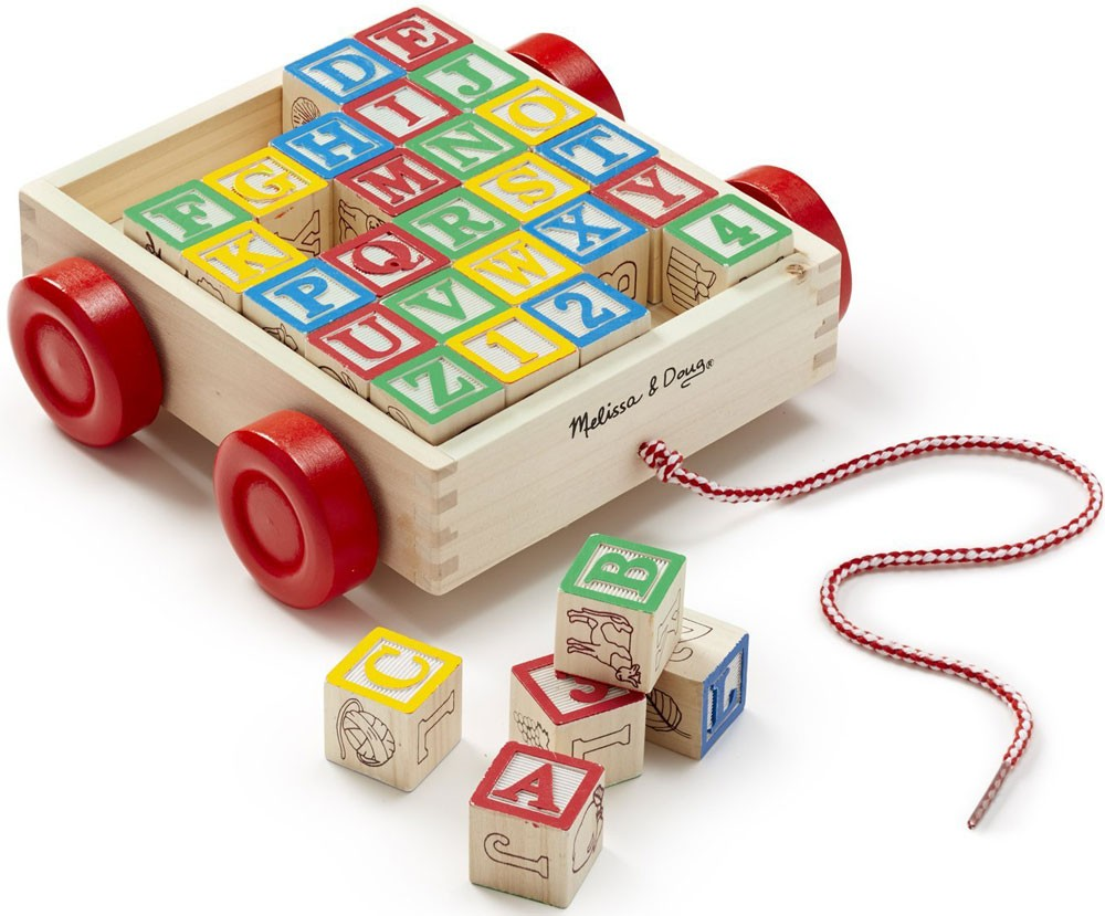 Classic Educational Toys : Classic abc block cart wooden toy educational toys planet