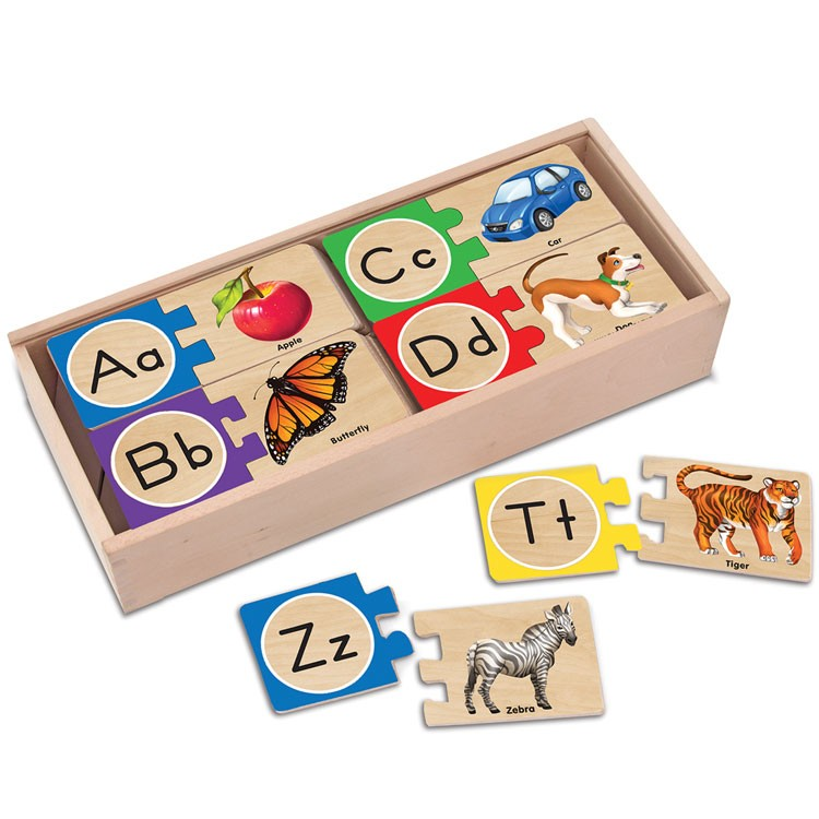 Alphabet Wooden Puzzle Cards Educational Toys Planet