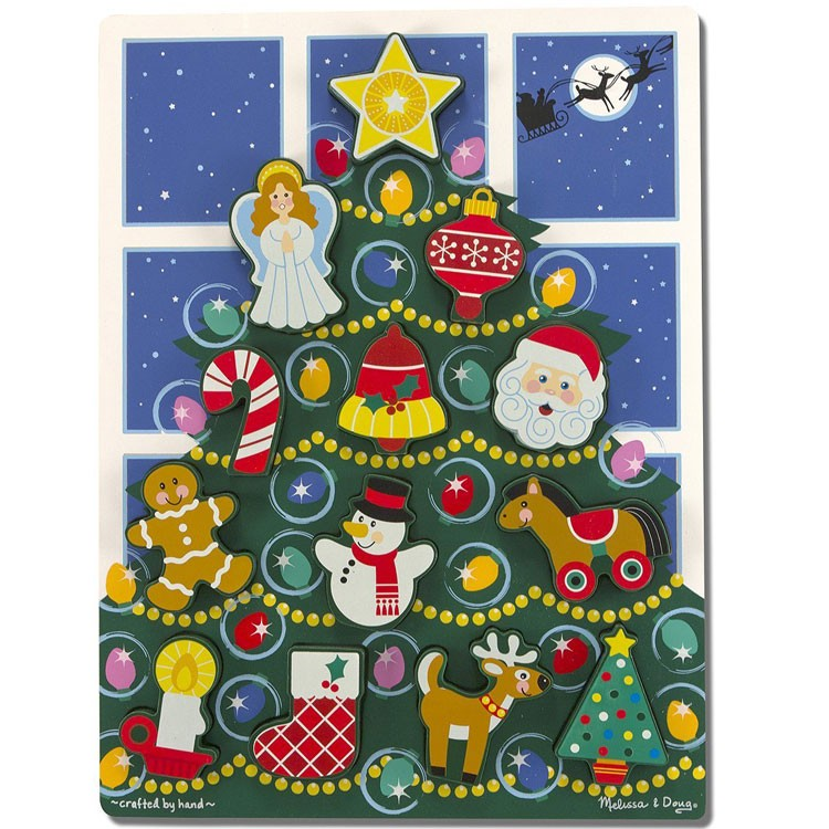 Christmas Tree Chunky Puzzle for Toddlers - Educational ...