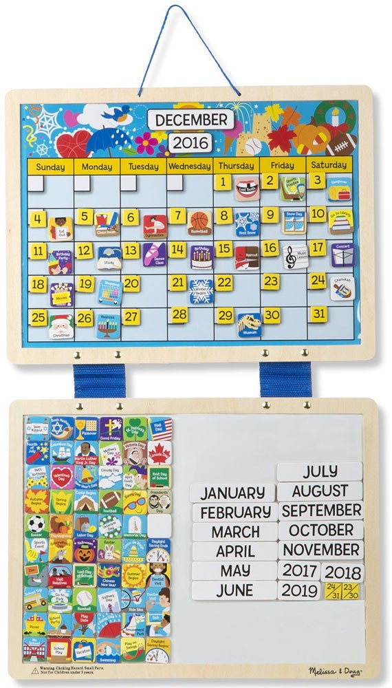 monthly magnetic calendar with 133 magnets educational toys planet