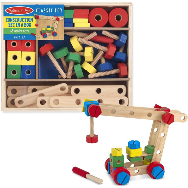 Kids 48 Pcs Wooden Construction Set Educational Toys Planet