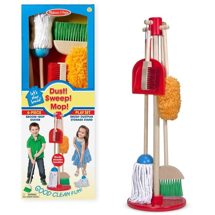 Kids indoor outdoor cleanup play set house chores for Garden house for tools