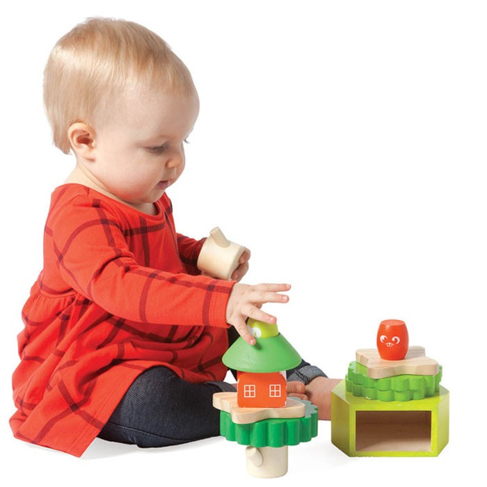 Toddler Toys Physical Toys : Treehouse stack up toddler manipulative toy educational