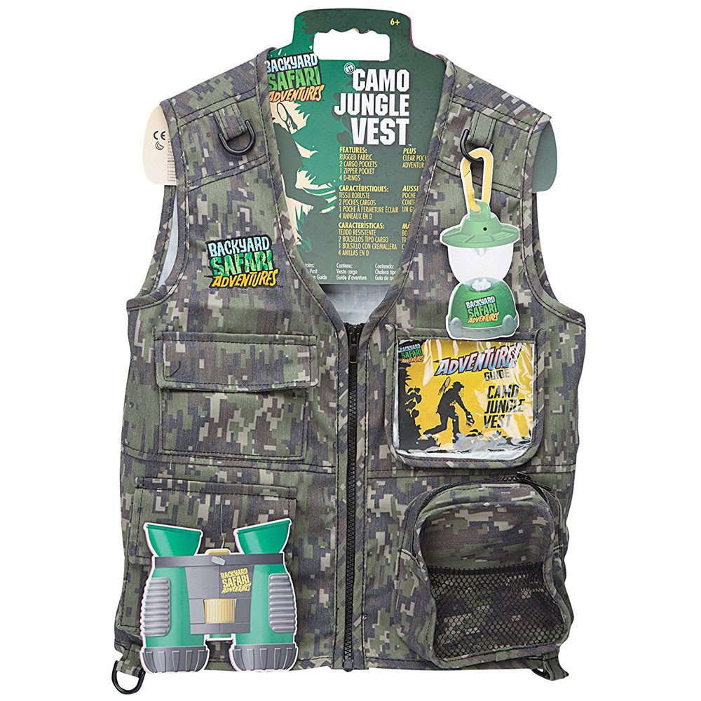 Safari Toys For Boys : Backyard safari kids explorer camo jungle vest