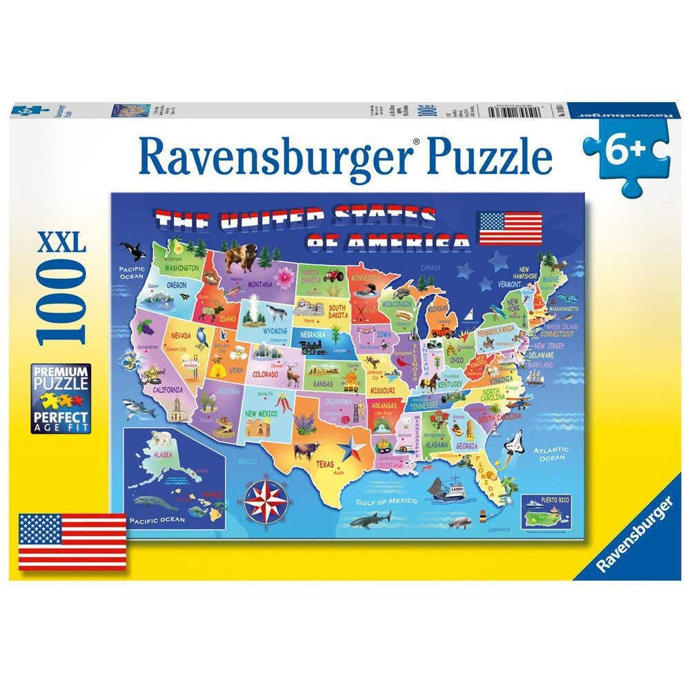 USA State Map Pc Jigsaw Puzzle Educational Toys Planet - Usa state map