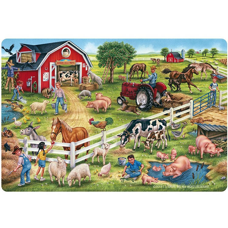 Farm 24 Pc Jumbo Floor Puzzle Educational Toys Planet