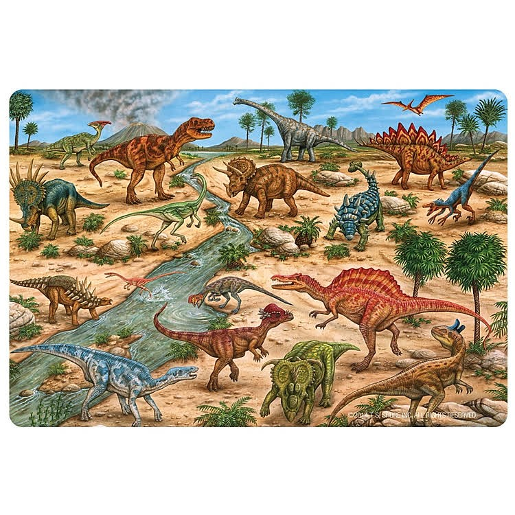 Dinosaurs Mdf Toy Box Childrens Storage Toys Games Books: Dinosaurs 24 Pc Giant Floor Puzzle