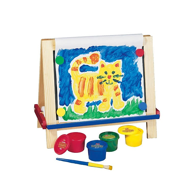 Art Educational Toys : Wooden tabletop easel with art supplies set educational