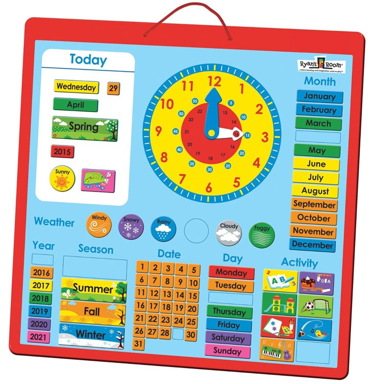 Ryans Room All About Today Calendar Board