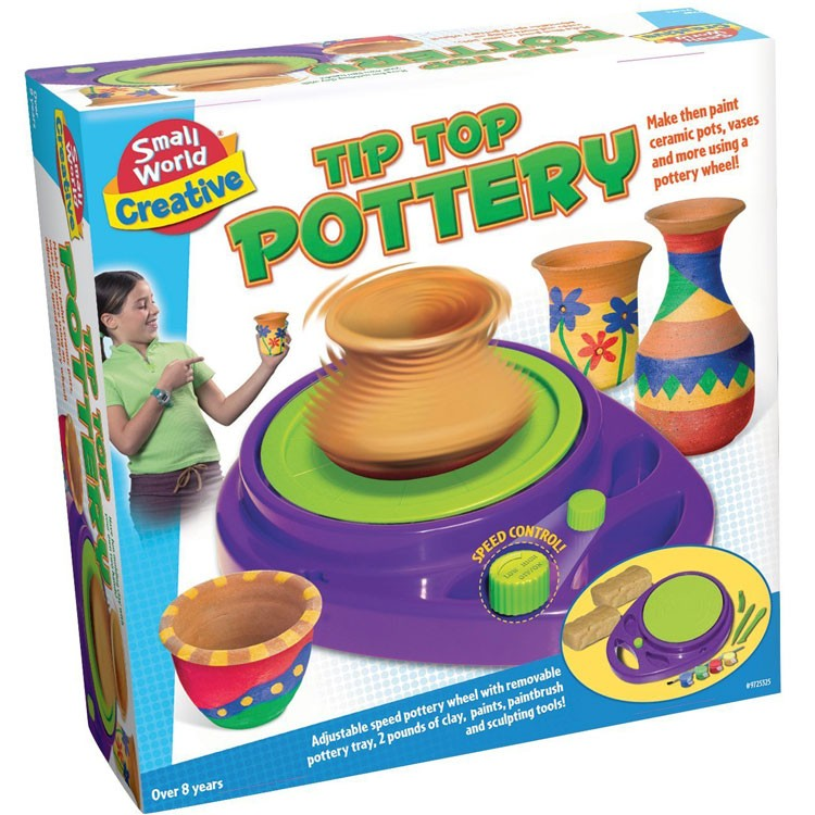 Tip top pottery wheel craft kit educational toys planet for Crafts for girls age 9