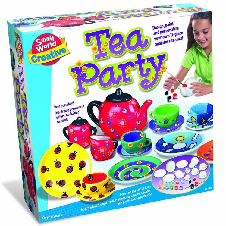 Paint tea set craft kit for girls educational toys planet for Arts and crafts for 10 year old girls