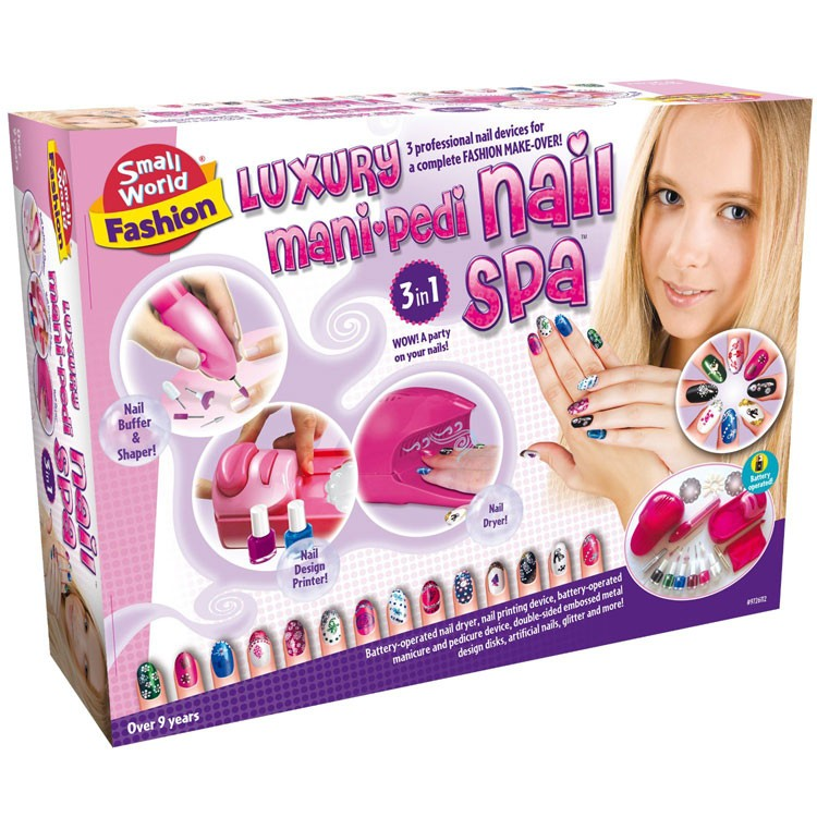 Girls Luxury Mani Pedi Nail Spa Fashion Kit - Educational Toys Planet