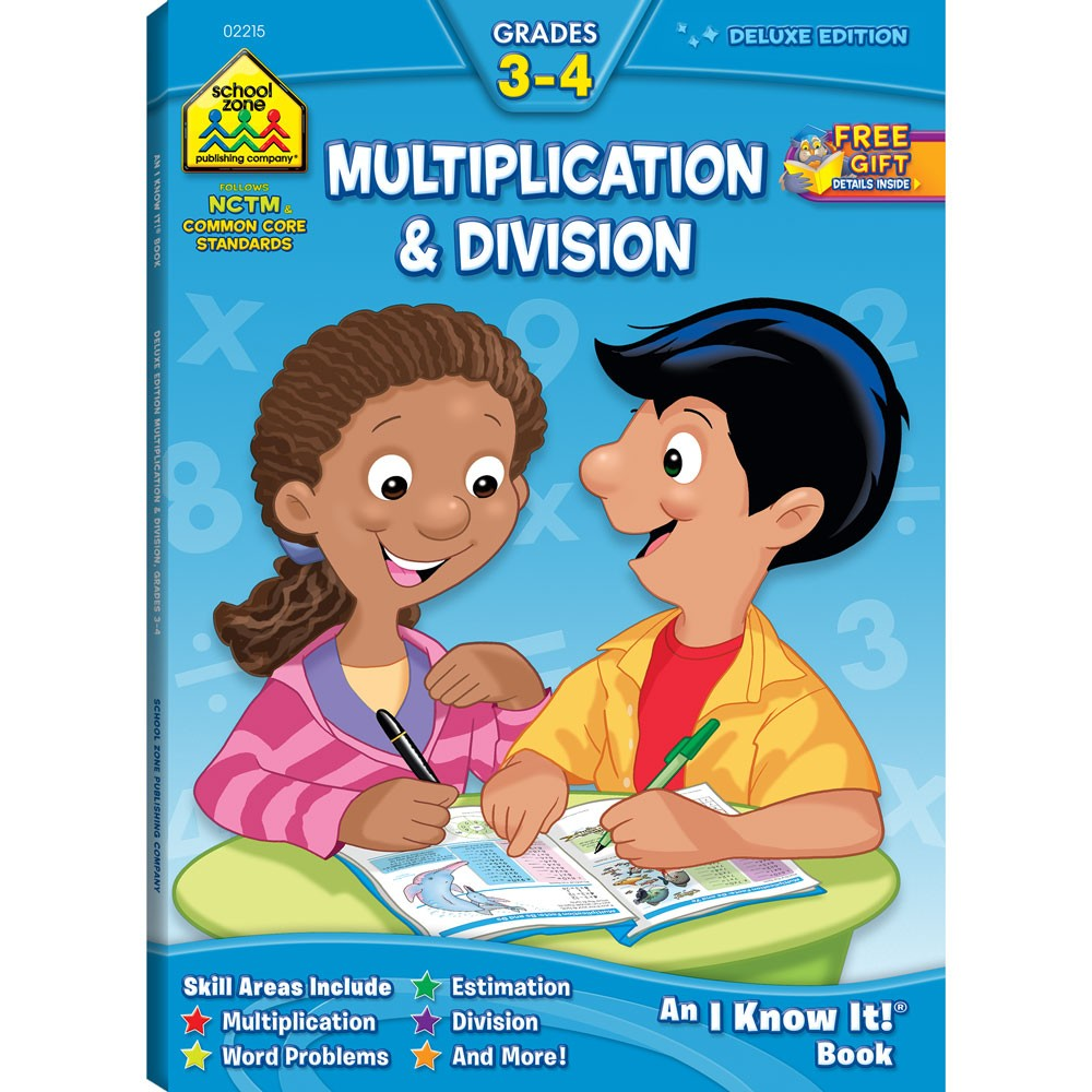 Multiplication & Division Grades 3-4 64 Pages Workbook - Educational ...