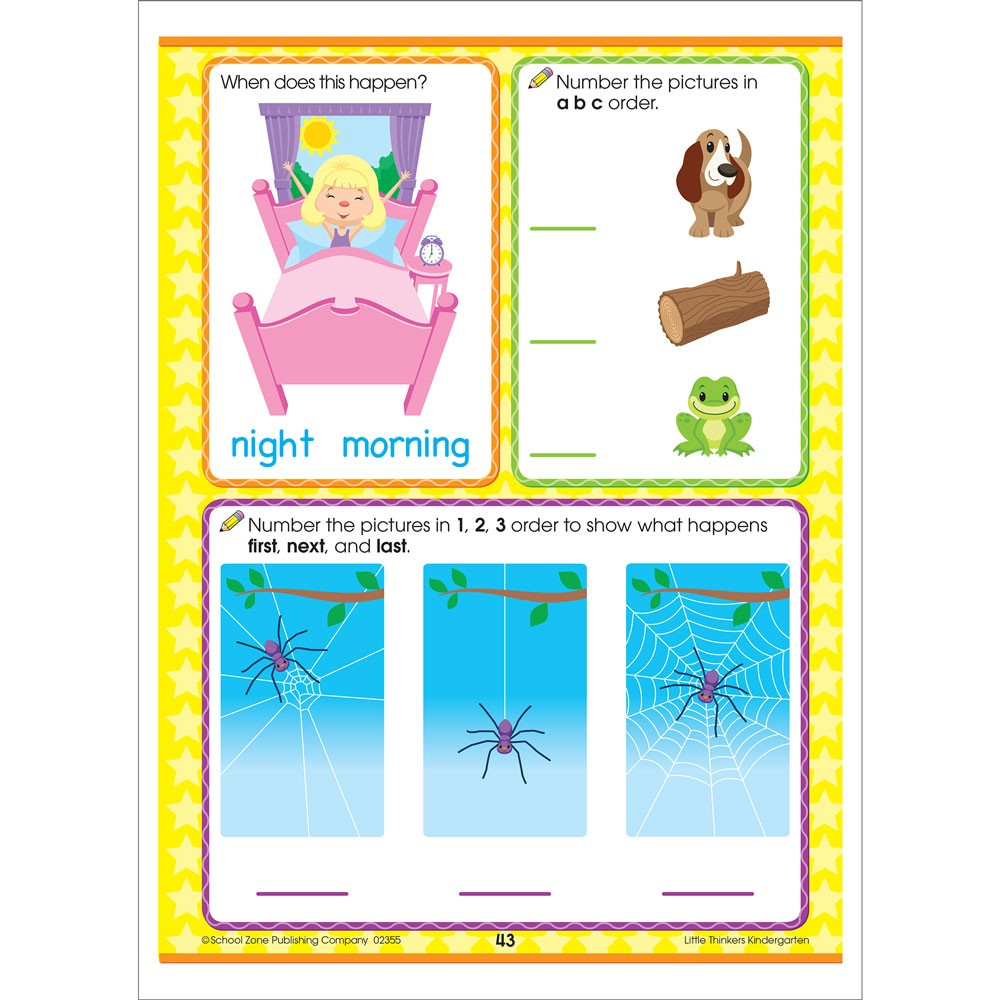 Little Thinkers Kindergarten 64 Pages Workbook - Educational Toys Planet