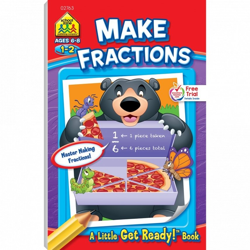 Make Fractions 48 Pages Activity Workbook for Grades 1-2 ...
