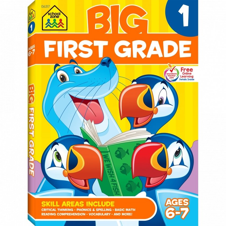 Big First Grade Workbook - 320 pages - Educational Toys Planet