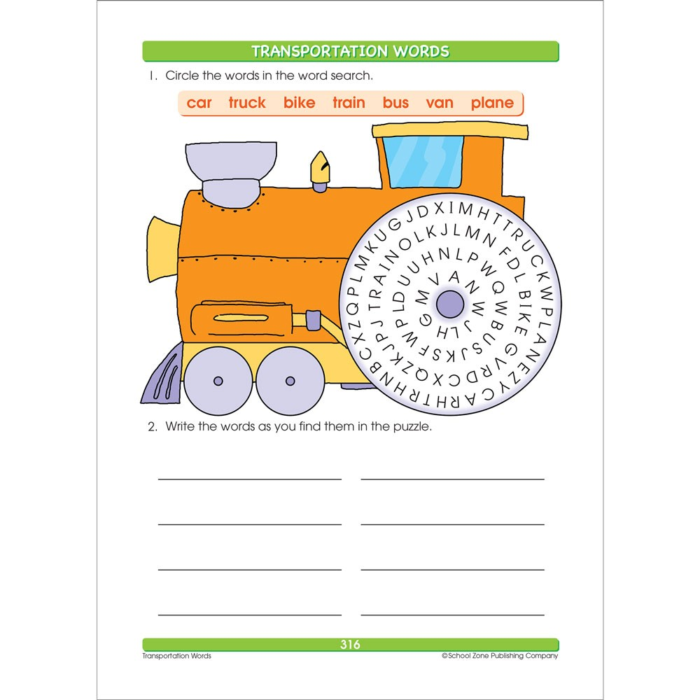 Spelling Grades 1-3 Big Workbook for Kids - Educational Toys Planet