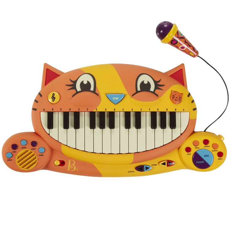 Meowsic Cat Shaped Electronic Keyboard on Math Games Cards