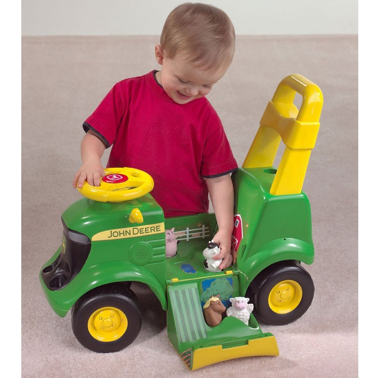 john deere tractor scooter toddler ride on toy educational toys planet. Black Bedroom Furniture Sets. Home Design Ideas